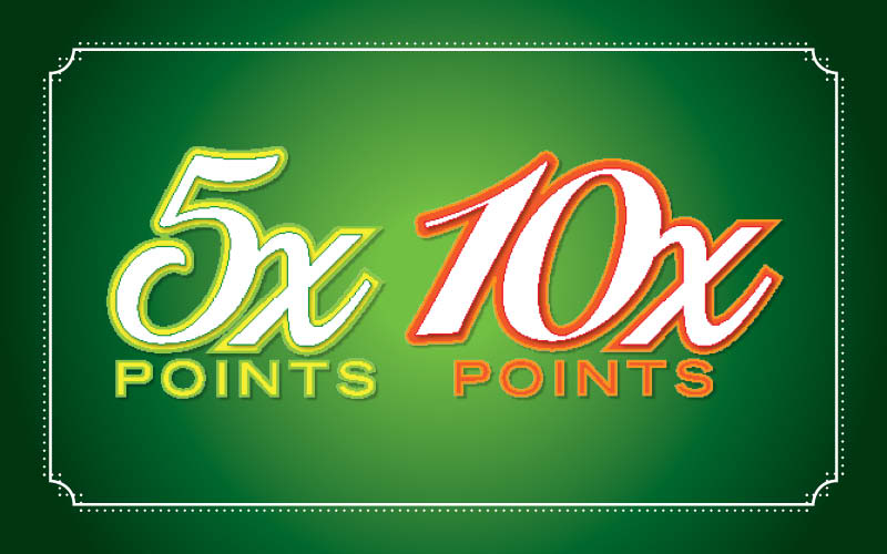 5X 10X Points Promotion at Derby City Gaming